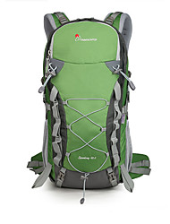 cheap -Mountaintop® 40 L Hiking Backpack Lightweight Ultra Light (UL) High Capacity Outdoor Hiking Traveling 100g / m2 Polyester Knit Stretch Black Dark Blue Green