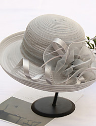 cheap -Organza Hats with Flower 1pc Wedding / Party / Evening Headpiece