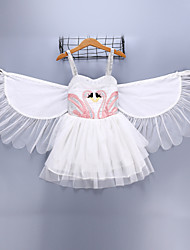 cheap -Fairytale Cosplay Costume Kid's Christmas Halloween Festival / Holiday Polyester White Carnival Costumes Solid Colored / Dress / Wings / Dress / Wings
