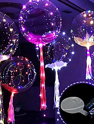 cheap -3M 30LED Balloon with Led Strip Luminous Led Balloons for Wedding Decorations Birthday Party Christmas New Year
