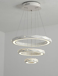 cheap -1-Light QINGMING® 60 cm Mini Style / Multi-shade / Tri-color Chandelier Metal Circle Painted Finishes LED / Chic & Modern 110-120V / 220-240V
