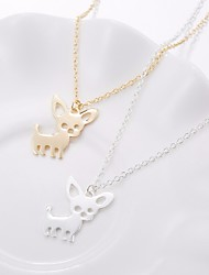cheap -Women's Stylish Trace Chain Necklace Charm Necklace Dog Animal Ladies Stylish Sweet Cute Lovely Gold Silver 50 cm Necklace Jewelry 1pc For Daily Date