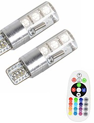 cheap -2pcs T10 Car Light Bulbs 3 W SMD 5050 500 lm 6 LED Turn Signal Light For