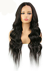 cheap -Virgin Human Hair 360 Frontal Wig Middle Part Deep Parting style Brazilian Hair Body Wave Natural Wig 150% Density with Baby Hair Women Best Quality Comfortable Women's Long Human Hair Lace Wig