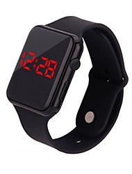 Недорогие -Для пары электронные часы Цифровой Pезина Черный / Белый / Синий Секундомер Cool Милый Цифровой Мода Цветной - Синий Розовый Светло-Зеленый Один год Срок службы батареи / SSUO 377