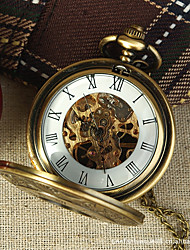 cheap -Couple's Skeleton Watch Pocket Watch Quartz Silver Hollow Engraving Casual Watch Analog Luxury Casual Skull - Gold