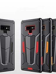 Недорогие -Кейс для Назначение SSamsung Galaxy Note 9 Защита от удара / Рельефный Кейс на заднюю панель броня Твердый ПК