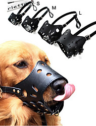 cheap -Adjustable Leather Dog Muzzle Anti Bark Bite Chew Dog Training Products For Small Medium Large Dogs Outdoor Pet Products XS-XL