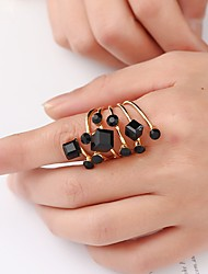 cheap -Women's Ring Crystal 1pc Black White Gold Alloy irregular Wedding Jewelry Retro Lovely