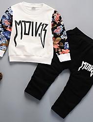 cheap -Baby Boys' Active Daily Print Long Sleeve Regular Clothing Set Black