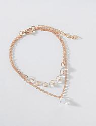 cheap -Women's Pendant Bracelet Layered Heart Ladies European Fashion Elegant Alloy Bracelet Jewelry Gold For Party
