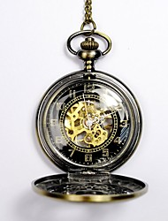 Недорогие -Муж. Часы со скелетом Карманные часы С автоподзаводом Золотистый С гравировкой Повседневные часы Череп Аналоговый Череп Мода Steampunk Aristo - Золотой