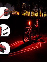 cheap -Laser LED Bike Light Rear Bike Tail Light Safety Light Mountain Bike MTB Bicycle Cycling Waterproof Portable Adjustable Lightweight 150 lm Rechargeable USB Red Camping / Hiking / Caving