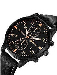 cheap -Men's Wrist Watch Aviation Watch Quartz Oversized Fashion Chronograph Cute Casual Watch Analog Brown black Rose Gold / White Black / Rose Gold / One Year / Leather / Large Dial / SSUO 377