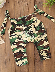 cheap -Baby Girls' Vintage / Street chic Daily / Holiday Print Lace up / Print Sleeveless Overall & Jumpsuit Green / Toddler