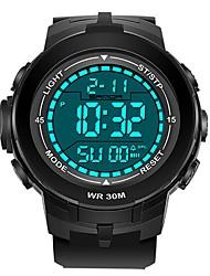 Недорогие -SANDA Муж. Спортивные часы электронные часы Японский Цифровой Черный 30 m Защита от влаги Календарь Хронометр Цифровой Роскошь Мода - Черный и золотой Черный / Синий Черный / Серебристый