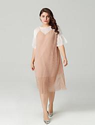 cheap -Women's Going out A Line Dress Pink XXXL XXXXL XXXXXL