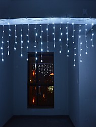 cheap -4m 13ft 96 LED String Lights Dip LED US Plug Extendable Curtain Linkable 8 Modes Christmas Decorative Rope String Twinkle Light Warm Cold White RGB