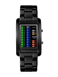 cheap -Couple's Digital Watch Quartz Black / Silver Cool Digital Casual - Black Silver