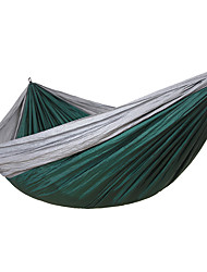 cheap -Camping Hammock Double Hammock Outdoor Portable Lightweight Parachute Nylon for 2 person Hiking Camping Travel Orange Dark Blue Army Green