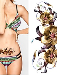cheap -2 pcs Temporary Tattoos Eco-friendly / New Design Body / brachium / Chest Water-Transfer Sticker Tattoo Stickers / Decal-style temporary tattoos