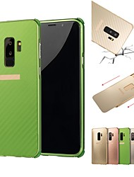 cheap -Case For Samsung Galaxy S9 / S9 Plus / S8 Plus Shockproof / Plating Back Cover Solid Colored Hard Aluminium
