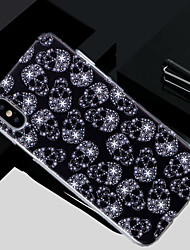 cheap -Case For Apple iPhone X / iPhone 8 Plus / iPhone 8 Translucent / Pattern Back Cover Skull Soft TPU