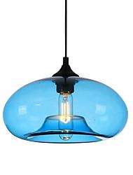 cheap -1-Light 27 cm Pendant Light Glass Glass Circle / Globe / Linear Globe / Modern 110-120V / 220-240V