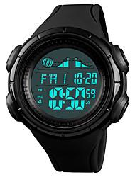 cheap -SKMEI Men's Sport Watch Wrist Watch Digital Watch Digital Casual Water Resistant / Waterproof Quilted PU Leather Black / Green Digital - Black Blue Green One Year Battery Life / Japanese / Alarm