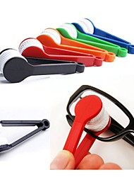 cheap -2PCS Sun Glasses Eyeglass Microfiber Spectacles Cleaner Brush Cleaning Tool Random