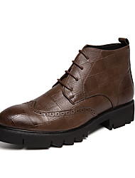 cheap -Men's Fashion Boots PU Spring / Fall & Winter Casual / British Boots Booties / Ankle Boots Black / Brown / Party & Evening