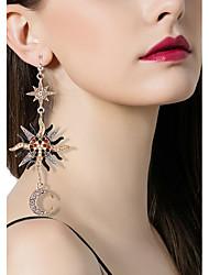 cheap -Women's Drop Earrings Hanging Earrings Retro Mismatched Moon Star Magic Ladies Vintage Italian Rhinestone Earrings Jewelry Gold For Daily 1 Pair