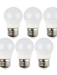 Недорогие -6pcs 3w 400lm e27 привели шарики шарика декоративные холодные белые / теплые белые ac220-240v lampadas без фликер крытый светодиодные лампочки