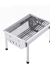cheap -BSwolf Camping Grill Camping Stove Outdoor Cookware Seven-piece Suit Folding for 3 - 4 person Stainless steel Outdoor Camping Silver