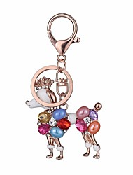 cheap -Keychain Dog Diamond / Rhinestone Decorated Case Fashion Imitation Diamond Ring Jewelry Rose Gold For Gift Daily