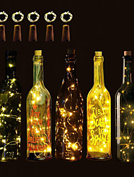 cheap -BRELONG 5pcs 1m 10LED Beads Wine Bottle Copper String Lights Christmas Halloween Wedding Party and Interior Decoration