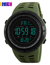 cheap -SKMEI Men's Wrist Watch Digital Watch Japanese Digital 50 m Water Resistant / Water Proof Alarm Calendar / date / day PU Band Digital Casual Fashion Clover - Green One Year Battery Life / Chronograph