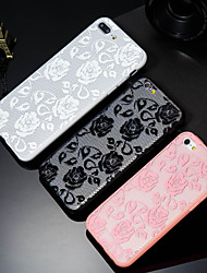 cheap -Case For Apple iPhone X / iPhone 8 Plus / iPhone 8 Pattern Back Cover Flower Hard PC