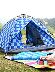 cheap -BSwolf 3 person Automatic Tent Outdoor Windproof Rain Waterproof Breathability Double Layered Automatic Camping Tent 2000-3000 mm for Fishing Beach Camping / Hiking / Caving Oxford Cloth Waterproof