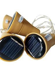 Недорогие -3pcs 10led 1m солнечная бутылка пробки медь фея прокладка провода наружная вечеринка украшения ночной светильник diy