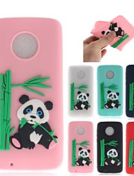 cheap -Case For Motorola MOTO G6 / Moto G6 Plus Pattern Back Cover 3D Cartoon / Panda Soft TPU