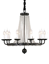 cheap -QINGMING® 10-Light 87 cm Mini Style Chandelier Metal Candle-style Painted Finishes Rustic / Lodge / Vintage 110-120V / 220-240V