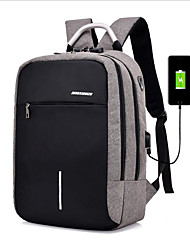cheap -Polyester Zipper School Bag School Black / Light Gray / Dark Grey / Men's