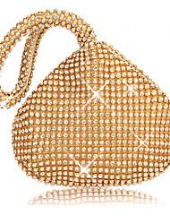 cheap -Women's Crystals / Glitter PU Evening Bag Black / Gold / Silver