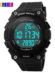 Недорогие -SKMEI Муж. Жен. Спортивные часы электронные часы Цифровой силиконовый Черный / Зеленый 30 m Защита от влаги Календарь Секундомер Цифровой На каждый день - Черный Зеленый