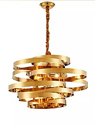 cheap -QIHengZhaoMing 6-Light 52 cm Chandelier Metal Circle Electroplated Modern 110-120V / 220-240V