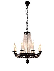 cheap -JLYLITE 8-Light 55 cm Candle Style Chandelier Metal Candle-style Painted Finishes Retro / Traditional / Classic 110-120V / 220-240V