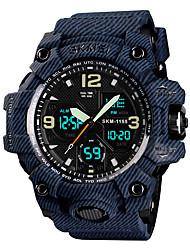 cheap -SKMEI Men's Sport Watch Military Watch Japanese Quartz 50 m Alarm Calendar / date / day Chronograph PU Band Analog-Digital Fashion Colorful Black / Grey / Pool - Black Gray Blue One Year Battery Life