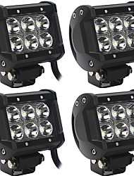 cheap -OTOLAMPARA 4 Pieces 60W 6000LM Spot Flood Beam/Working Lights Combination High Performance LED Fit for Dodge Chevrolet Ford JEEP etc
