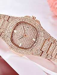 cheap -Men's Wrist Watch Diamond Watch Analog Quartz Pave Luxury Calendar / date / day